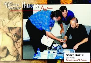 Andre Agassi werd tijdens zijn professionele tennis carrière behandeld met APS Therapy.