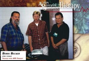Boris Becker werd tijdens zijn professionele tennis carrière behandeld met APS Therapy.