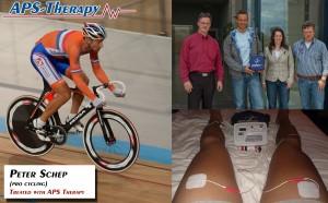 Peter Schep wordt behandeld met APS Therapy tijdens zijn professionele wielren carrière.